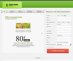 Screenshot de Fortuneo